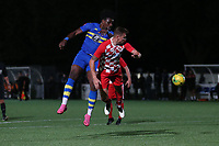 L'heureux Menga of Romford during Romford vs Tilbury, Pitching In Isthmian League North Division Football at Mayesbrook Park on 29th September 2021
