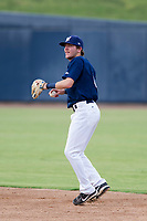 AZL Brewers second baseman Kenny Corey (6) prepares to make a throw to first base against the AZL Padres 2 on September 2, 2017 at Maryvale Baseball Park in Phoenix, Arizona. AZL Brewers defeated the AZL Padres 2 2-0. (Zachary Lucy/Four Seam Images)