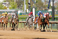 30th April 2021; Kentucky, USA;  Jockey John Velazquez rides Malathaat (10) to victory in the 147th running of the Longines Kentucky Oaks race during Oaks Day on April 30th, 2021 at Churchill Downs in Louisville, KT.