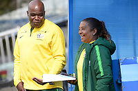 20190304 - LARNACA , CYPRUS : South African head coach Desiree Ellis (right) pictured during a women's soccer game between Czech Republic and South Africa , on Monday 4 March 2019 at the Antonis Papadopoulos Stadium in Larnaca , Cyprus . This is the third game in group A for Both teams during the Cyprus Womens Cup 2019 , a prestigious women soccer tournament as a preparation on the Uefa Women's Euro 2021 qualification duels. PHOTO SPORTPIX.BE | STIJN AUDOOREN