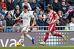 Real Madrid's Alvaro Odriozola during La Liga match between Real Madrid and Girona FC at Santiago Bernabeu Stadium in Madrid, Spain. February 17, 2019. (ALTERPHOTOS/A. Perez Meca)