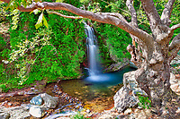 The waterfall of Platanistos in Evia, Greece