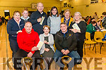 front l-r Karl McMahon, Anne O'Shea and Patrick O'Sullivan (chairman of Dr Crokes), back l-r Eibhlin Henggeler, Leah McMahon, Dick Henggeler, Aine McMahon, Maura Fitzgerald and Cait O'Donoghue all from Killarney pictured at Dr Crokes Bingo night at St Mary's Parish Hall last Sunday night.