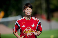 Thursday 24 July 2014<br /> Pictured: Ki Sung-Yong<br /> Re: Swansea City Training at Fairwood