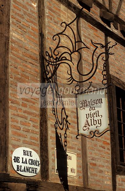 Europe/France/Midi-Pyrénées/81/Tarn/ Albi: Maison du Vieil Alby rue de la Croix Blanche