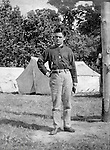 Gettysburg PA: View of Boy's Brigade Officer camping at Gettysburg. Brady Stewart was in Gettysburg with the McKeesport-area Methodist Boy's Brigade. They were in Gettysburg for the 40th anniversary of the battle of Gettysburg. The Boy's Brigade was a church-based youth organization started in the late 1800s in Scotland.