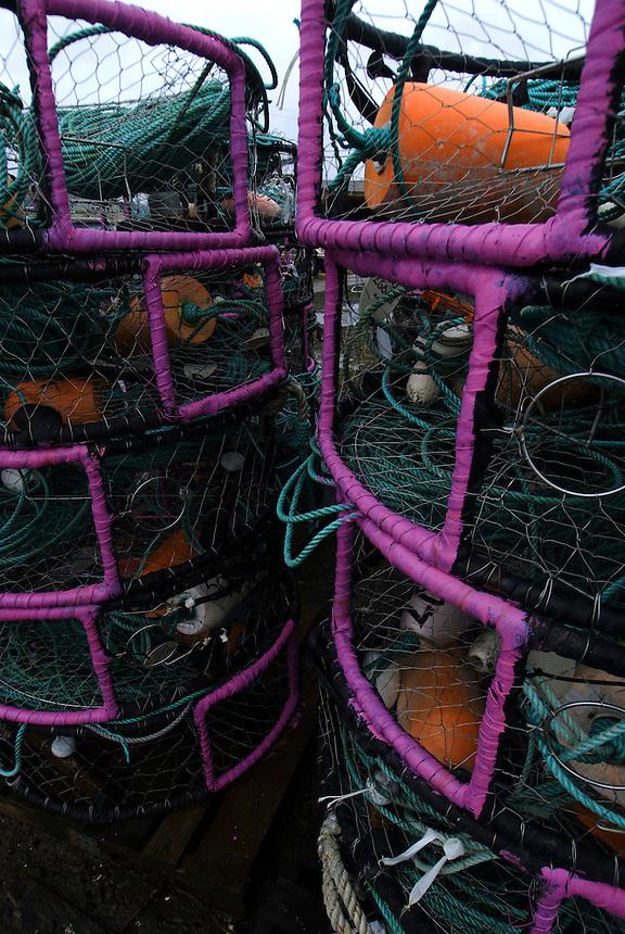 La Push Crab Nets, La Push, Quileute Reservation, Olympic Peninsula, Washington, US