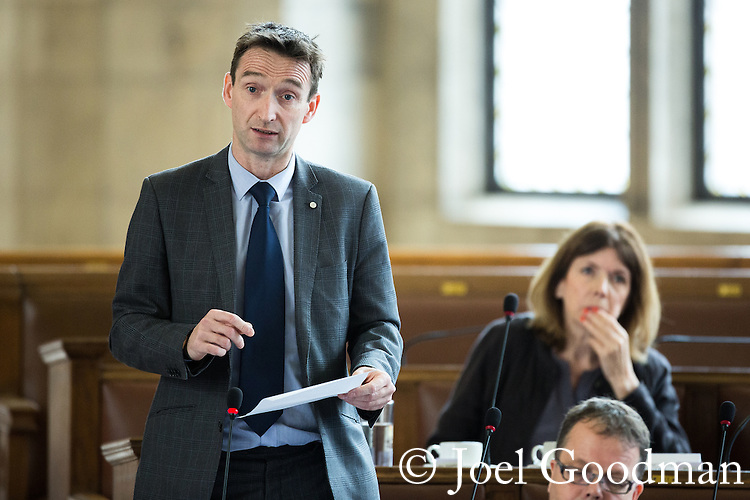 © Joel Goodman - 07973 332324 . 13/07/2016. Manchester , UK . Liberal Democrat CLLR JOHN LEECH . Leech was MP for Manchester Withington until the 2015 election . He is the only non-Labour member of the council . Proceedings at a Manchester City Council meeting , at the Town Hall in Manchester . Photo credit : Joel Goodman