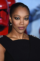 """Naomi Ackie<br /> arriving for the """"Star Wars: The Rise of Skywalker"""" premiere at the Cineworld Leicester Square, London.<br /> <br /> ©Ash Knotek  D3545 17/12/2019"""