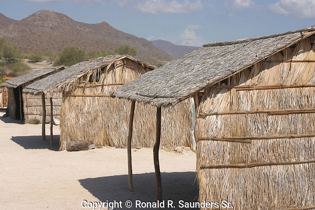 EMPTY HUTS<br /> Straw huts provide shade for prospective tourists. These huts are structures of lower quality than houses but higher than shelters such as tents and are used as temporary or seasonal shelters.