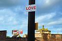 Love sign near St. Louis Cemetery No. 2, 2014