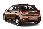 Car pictures of rear three quarter view of 2015 Hyundai I20 Intro Edition 5 Door Hatchback Angular Rear