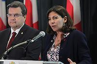 Paris Mayor Anne Hildago speak in Montreal, June 11,2015.<br /> <br /> Photo : Pierre ROUSSEL - Agence Quebec Presse<br /> <br /> <br /> <br /> <br /> <br /> <br /> <br /> <br /> <br /> .