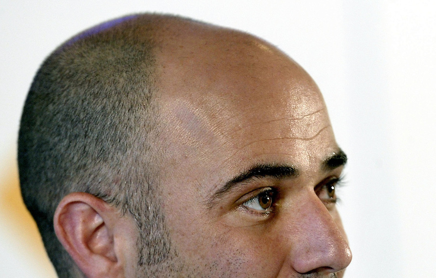 Retired tennis great Andre Agassi.
