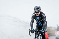 Michael Storer (AUS/DSM) coming over the Passo Giau<br /> <br /> due to the bad weather conditions the stage was shortened (on the raceday) to 153km and the Passo Giau became this years Cima Coppi (highest point of the Giro).<br /> <br /> 104th Giro d'Italia 2021 (2.UWT)<br /> Stage 16 from Sacile to Cortina d'Ampezzo (shortened from 212km to 153km)<br /> <br /> ©kramon