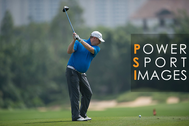 Markus Manninen plays during the World Celebrity Pro-Am 2016 Mission Hills China Golf Tournament on 23 October 2016, in Haikou, Hainan province, China. Photo by Marcio Machado / Power Sport Images