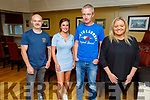 Willie Foster, Isabella Flamini, Earl Flynn and Aisling O'Connor enjoying the evening in the Brogue Inn on Saturday.