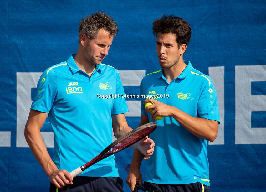 Zandvoort, Netherlands, 8 June, 2019, Tennis, Play-Offs Competition, Mans doubles: Jasper Smit and Sebastian Fanselow (R)<br /> Photo: Henk Koster/tennisimages.com