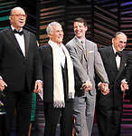 """Neil Simon, Burt Bacharach, Sean Hayes, Hal David take a bow on the  Opening Night Broadway performance Curtain Call for """"PROMISES, PROMISES"""" at the Broadway Theatre, New York City.<br />April 25, 2010"""