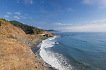 Famous California State Highway 1 hugs the Pacific Ocean Coast north of Fort Bragg, California at Williams Point.  This stunning coastline is often skipped by coastal drivers preferring the straight route along U.S. 101.