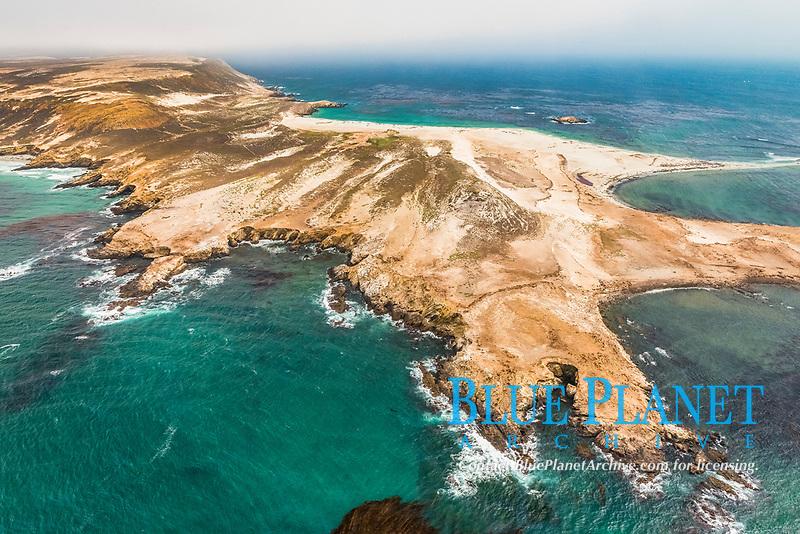 Point Bennett, San Miguel Island, aerial photograph, Channel Islands National Park, California, USA, Pacific Ocean