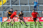 Sean O'Shea Kenmare tackles Cian O'Sullivan Austin Stacks during the county Club Champions final in Fitzgerald Stadium on Sunday