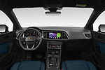 Stock photo of straight dashboard view of 2021 Cupra Ateca - 5 Door SUV Dashboard