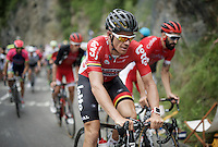 Adam Hansen (AUS/Lotto-Soudal) up the Montée de Bisanne (HC/1723m/12.4km/8.2%) <br /> <br /> Stage 19:  Albertville › Saint-Gervais /Mont Blanc (146km)<br /> 103rd Tour de France 2016
