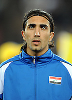 Karrar Jasim of Iraq. Iraq and New Zealand tied 0-0 during the FIFA Confederations Cup at Ellis Park Stadium in Johannesburg, South Africa on June 20, 2009..