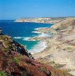 France, Brittany, Département Côtes-d'Armor, Cap Fréhel: headland at Côte d'Émeraude | Frankreich, Bretagne, Département Côtes-d'Armor, Cap Fréhel: eine Landzunge an der Côte d'Émeraude