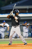 Courtney Hawkins #34 of the Bristol White Sox at bat against the Burlington Royals at Burlington Athletic Park on July 6, 2012 in Burlington, North Carolina.  The Royals defeated the White Sox 5-2.  (Brian Westerholt/Four Seam Images)