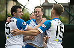 Motherwell v St Johnstone…05.05.18…  Fir Park    SPFL<br />Steven MacLean celebrates his third goal<br />Picture by Graeme Hart. <br />Copyright Perthshire Picture Agency<br />Tel: 01738 623350  Mobile: 07990 594431