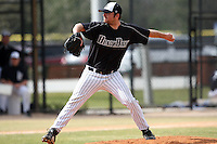 March 17, 2010:  Pitcher Jesse Johnson of the Long Island Blackbrids at Lake Myrtle Park in Auburndale, FL.  Photo By Mike Janes/Four Seam Images