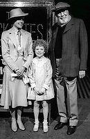 Ann Reinking Aileen Quinn John Huston 1981<br /> Photo By Adam Scull/PHOTOlink.net