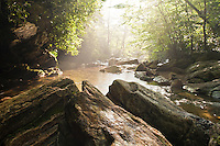 Down river on the East Fork of Pigeon Riverjust below Skinny Dip Falls, Blue Ridge Parkway, North Carolina  (Along the East Fork/Mountains-to-sea Trail)