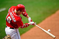 23 August 2009: Washington Nationals' outfielder Josh Willingham connects at the plate in the 4th inning against the Milwaukee Brewers at Nationals Park in Washington, DC. The Nationals defeated the Brewers 8-3 to take the third game of their four-game series, snapping a five games losing streak. Mandatory Credit: Ed Wolfstein Photo