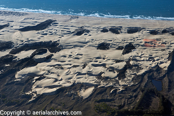 aerial photograph of dunes, Arroyo Grande, San Luis Obispo County, California
