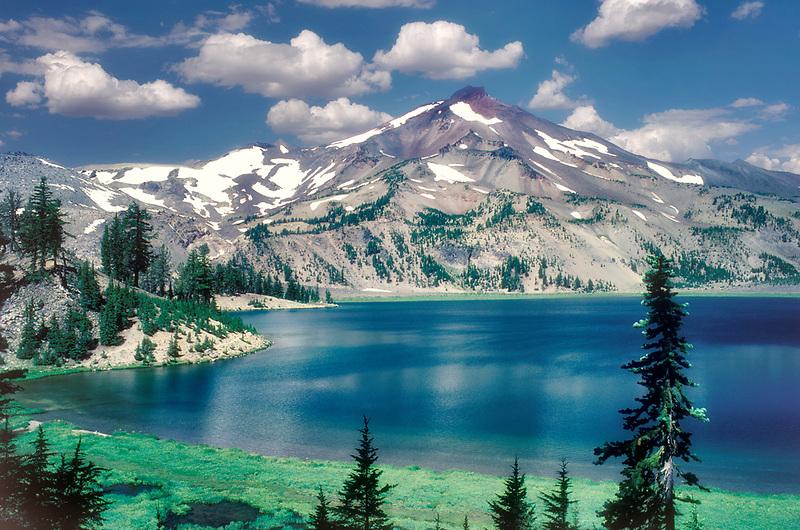 M00082.tif   Green Lakes. Three Sisters Wilderness Area, Oregon