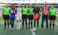 Seattle, WA - Thursday July 27, 2017: USWNT vs Australia during a 2017 Tournament of Nations match between the women's national teams of the United States (USA) and Australia (AUS) at CenturyLink Field.