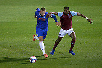 Luke Norris of Colchester United and Jamal Baptiste of West Ham United during Colchester United vs West Ham United Under-21, EFL Trophy Football at the JobServe Community Stadium on 29th September 2020