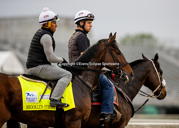 April 29, 2021: Brooklyn Strong gallops in preparation for the Kentucky Derby at Churchill Downs in Louisville, Kentucky on April 29, 2021. EversEclipse Sportswire/CSM