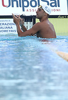 Nuoto 55 Settecolli trophy Foro Italico, Rome on June 29, 2018.<br /> Swimmer Chad Le Clos, of South Africa, celebrates after winning the men's 100 meters butterfly at the Settecolli swimming trophy in Rome, on 29 June, 2018.<br /> UPDATE IMAGES PRESS/Isabella Bonotto