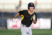 Bradenton Marauders shortstop Adam Frazier (10) runs the bases during a game against the Charlotte Stone Crabs on April 4, 2014 at Charlotte Sports Park in Port Charlotte, Florida.  Bradenton defeated Charlotte 9-1.  (Mike Janes/Four Seam Images)