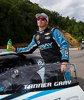 Jun 18, 2017; Bristol, TN, USA; NHRA pro stock driver Tanner Gray during the Thunder Valley Nationals at Bristol Dragway. Mandatory Credit: Mark J. Rebilas-USA TODAY Sports