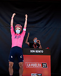 EF Education-Nippo at sign on before the start of Stage 14 of La Vuelta d'Espana 2021, running 165.7km from Don Benito to Pico Villuercas, Spain. 28th August 2021.     <br /> Picture: Cxcling   Cyclefile<br /> <br /> All photos usage must carry mandatory copyright credit (© Cyclefile   Cxcling)
