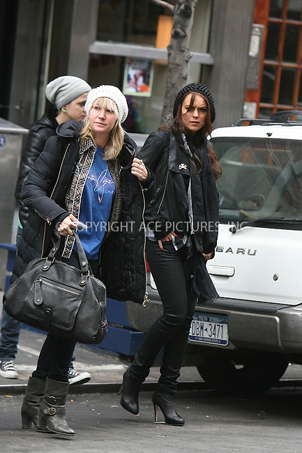 WWW.ACEPIXS.COM ** ** ** ....March 7 2008, New York City....Actress Lindsay Lohan and her DJ pal Samantha Ronson were out eating and shopping in Soho.......Please byline: Philip Vaughan -- ACEPIXS.COM.. *** ***  ..Ace Pictures, Inc:  ..tel: (646) 769 0430..e-mail: info@acepixs.com..web: http://www.acepixs.com