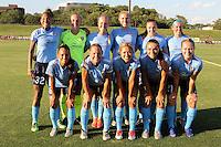 Piscataway, NJ - Saturday July 23, 2016: Sky Blue FC Starting Eleven during a regular season National Women's Soccer League (NWSL) match between Sky Blue FC and the Washington Spirit at Yurcak Field.