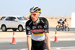 Radioshack-Nissan Trek rider Robert Wagner (GER) warms up before the 2nd Stage of the 2012 Tour of Qatar a team time trial at Lusail Circuit, Doha, Qatar, 6th February 2012 (Photo Eoin Clarke/Newsfile)