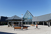 COPY BY TOM BEDFORD<br /> Pictured: The entrance to the store with its bandstand. <br /> Re: Trago Mills Mega Store, which opened its doors in Merthyr Tydfil, and is the largest store in Wales, UK. It is a £65m investment creating 350 jobs in one of Britain's biggest unemployment blackspots