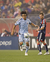 Colorado Rapids midfielder Pablo Mastroeni (25) comes away with the ball. The New England Revolution tied the Colorado Rapids, 1-1, at Gillette Stadium on May 16, 2009.
